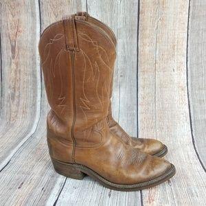 Tony Lama Distressed Vibram Cowboy Boots Size 9